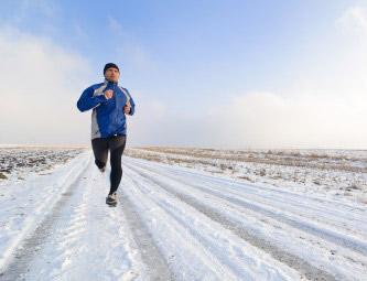 Courir dans le froid